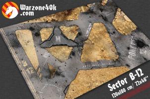 72x48 Warhammer 40k Sector B-12 battle mat