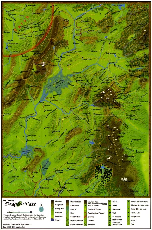 Géographie de la Passe du Dragon