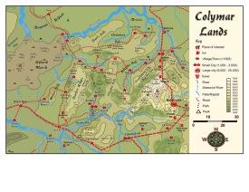 Le territoire de la tribu Colymar
